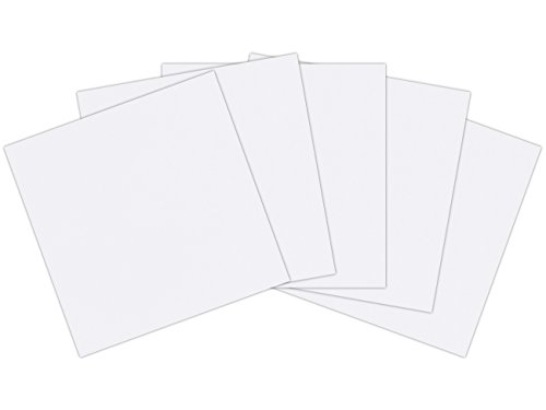 Affordable 12 x 12 inches (305mm x 305mm) 300gsm 340mic Craft Creations Economy White Cardboard – Sheets Of Acid Free, Smooth, White Card Stock (1,000)