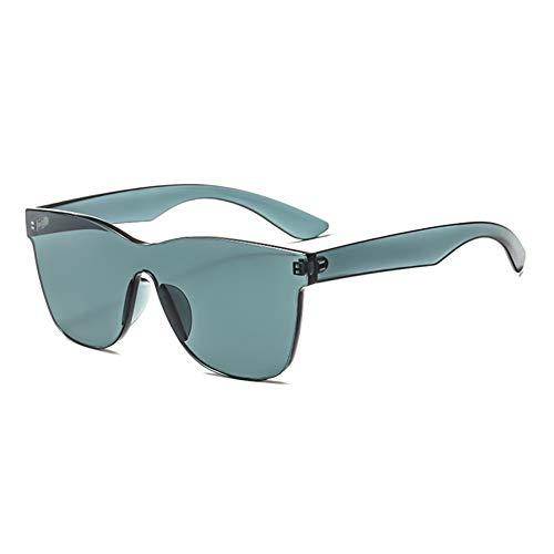 Sonnenbrillen Mode Retro Männer Unisex Coole Kunst Transparente Candy Farbe Siamesisch Sonnenbrille Clip Herren & Damen Outdoor UV Sunglasses Fliegerbrille Verspiegelt Schwarz und Grau