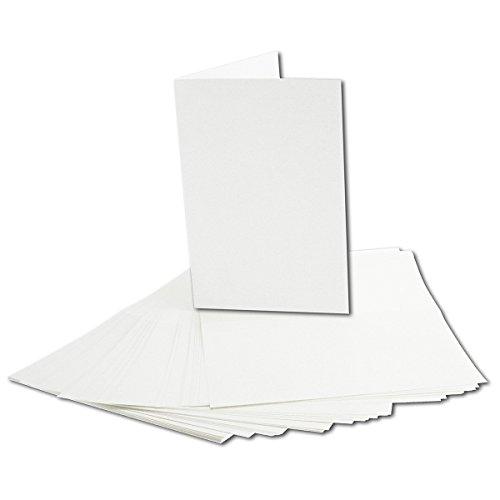 50 Stück Einlege-Papier, hochweiß, für B6 Doppelkarten. Einleger-Gesamtgröße: 166 x 228 mm - Gefalzt auf 166 x 114 mm - hochwertiges Papier mit 90g / qm