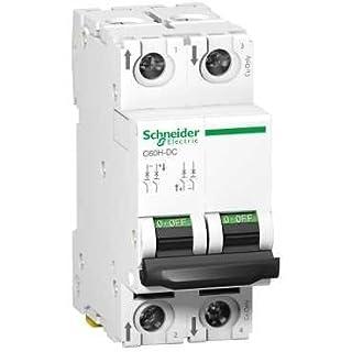 Schneider A9N61534 Mcb Miniature Circuit Breaker C60H-DC 2P 30A, White