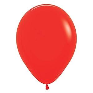 Amscan International Sempertex 20000892 - Globos de látex (15 pulgadas, 50 unidades), color rojo