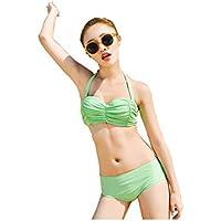 Pas Cher 100% D'origine Offres En Ligne Pas Cher maillot de bain Bikini maillot de bain trois pièces conservateur chemisier sexy petite poitrine réunis triangle maillots de bain Gratuit Sites D'expédition UmkiaW