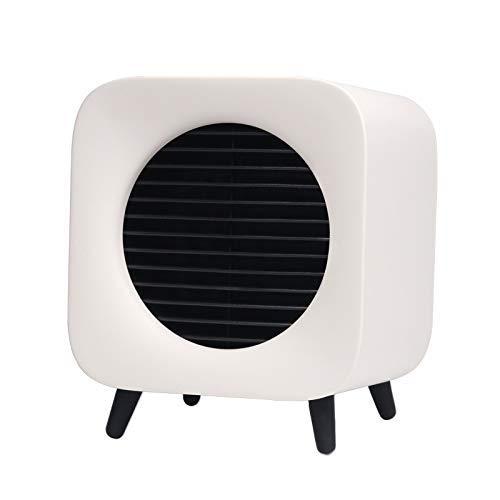 ZBJJ Calentador Mini Ventiladores de calefacción Carga por USB Escritorio Luz de Noche cálida Creativa (Color : Blanco)