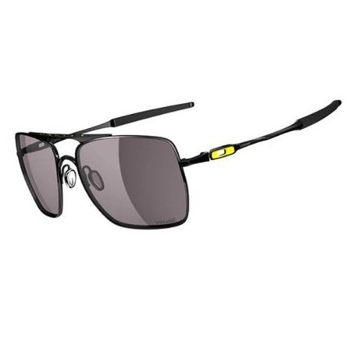 Oakley Herren Sonnenbrille Deviation vr Polished Black/warm Grey, 59 mm