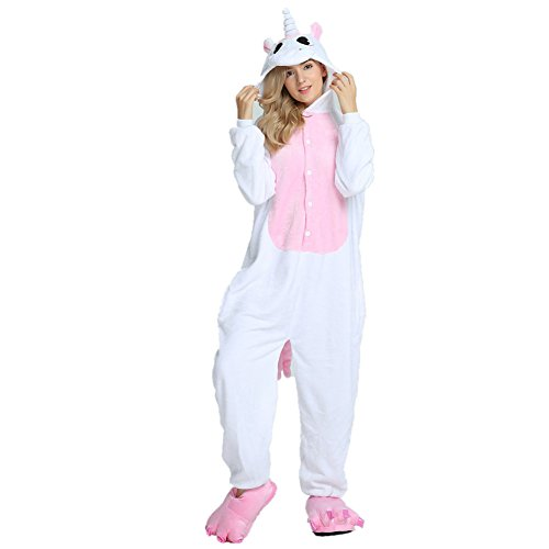 db6019ac25ec Lovelysi Pyjama Licorne Unisexe Enfant 3D Anime Flanelle Costume Adulte  Fille Garçon Cosplay Combinaison Pyjama Outfit