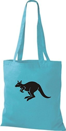 Shirtstown Stoffbeutel Tiere Känguru Roo Sky