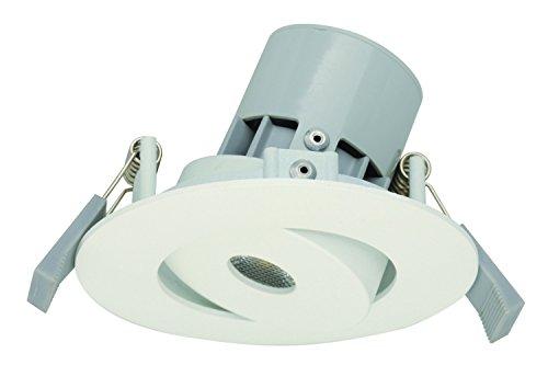 Light Topps 563112510 Spot Encastrable LED Orientable 230Lm, Métal, Intégré, 5 W, Blanc