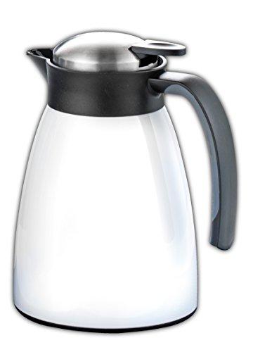 051 Tee (Esmeyer 305-051 Isolierkanne GLACE, Inhalt: 1 Liter,  aus doppelwandigem Edelstahl, weiß lackiert.  Mit glänzender Oberfläche,)