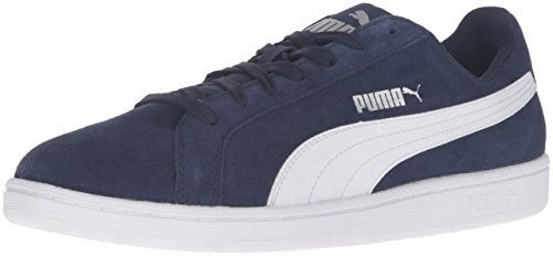 Puma Mens Smash SD Fashion Sneaker Peacoat/Puma White