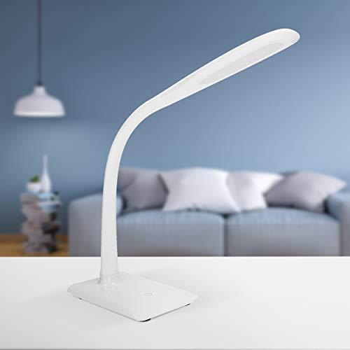 ORNO Jasper Schreibtischlampe LED 7W 16 SMD Weiß Helligkeit einstellen Lichtstrom: 400lm, Plastik, 12 x 16.5 x 55 cm - Jasper Led