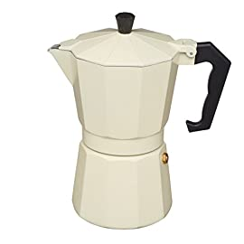 KitchenCraft Le'Xpress Italian Style 290ml Cream Espresso Coffee Maker, Aluminium