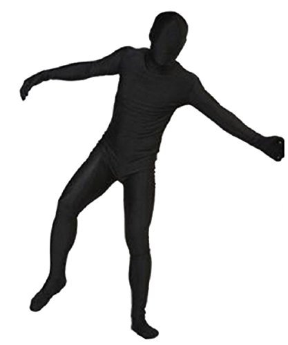 L & L Unisex Erwachsene Kinder zweite Haut Body Overall Kostüm Cosplay Lycra UK - Schwarz, L ()