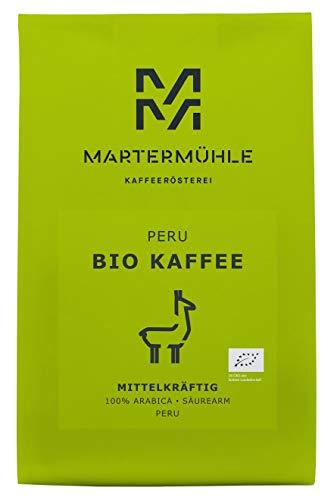 BIO Kaffee Peru 500g - Bio Kaffeebohnen Von Der Kaffeerösterei Martermühle: Kaffeebohnen Arabica...