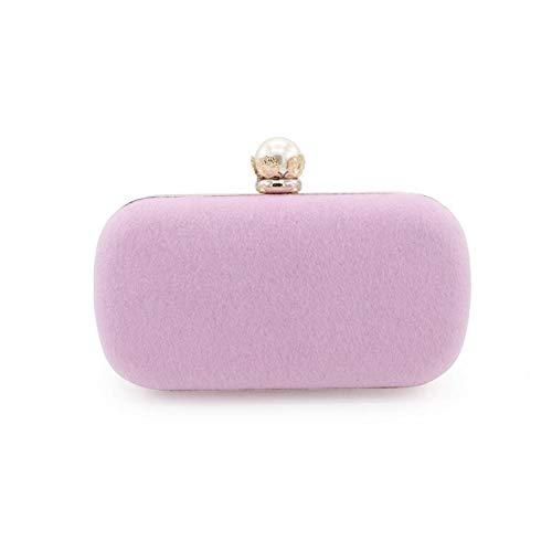 MNLSWYB Damen Clutch ,Vintage-Stil Perlmuttkopf Pferdehaar Bankettbeutel, pink Abendtasche Elegante Handtasche (Gefütterte Vintage Clutch)