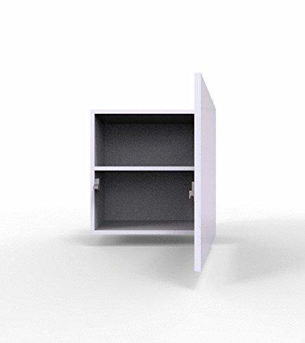 Wohnwand – Set mit Anbauwand in weiß mit Hängeschrank Bild 3*