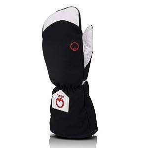OTARO ® Multifunktionale Winterhandschuhe mit Leder + Handgelenksband (Herren & Damen) Ideale Skihandschuhe & Snowboardhandschuhe – Gr. S,M,L,XL –