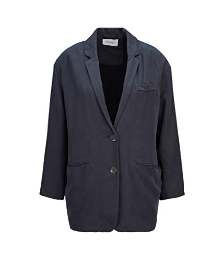 American Vintage Damen Blazer in Dunkelgrau - Leinen-einreiher Sakko