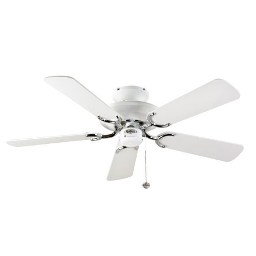 31OeX sIw9L. SS500  - 110606 Fantasia Mayfair Ceiling Fan 42in White and St Steel