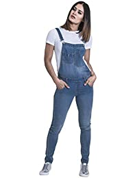 33dd386d8e44 Wash Clothing Company Blue Denim Skinny Fit Dungarees Ladies Bib Overalls  Narrow Leg TALIA3PALEBLUE