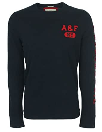 Abercrombie & Fitch - T-shirt à manches longues AF NY - bleu marine - homme - Taille M