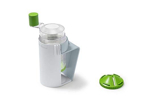 Betty Bossi Midi Spiralizer - Spiralschneider mit dem Sie komfortabel sämtliches Gemüse schneiden können und selbst als Kartoffel Spiralschneider geeignet ist