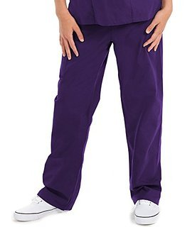 Unisex Premium Quality 5-Pocket Scrub Pants In Purple Size L The Very Best Mo... (Drawstring Pant Pocket)
