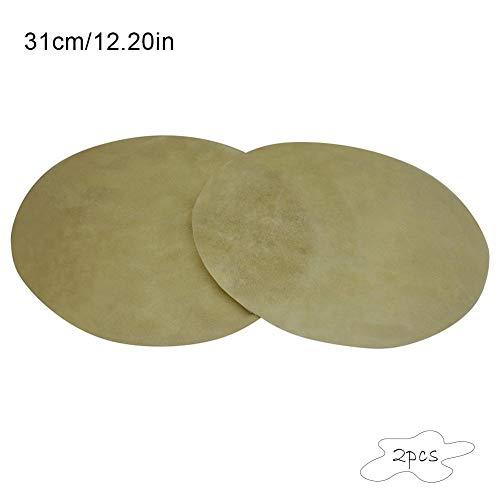 ramonde 2 Paket Afrikanische Trommel Bongo Trommel Konka Trommel Büffel Trommel Skins Für Traditionelle Musikinstrument Zubehör Teil - Skin-paket