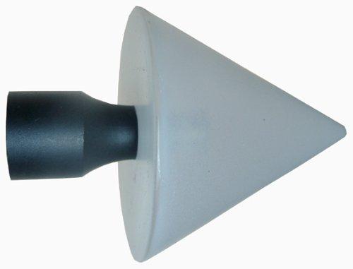 DecoProfi 2 x Endstück COLORE, Ø 16mm, Kegel weiss (Acryl, matt) -