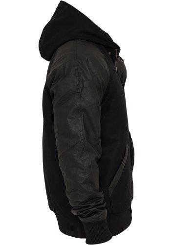 Hooded College Jacket Black/Black