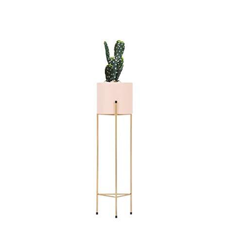 PLL Stand de Fleurs en Fer forgé Nordique Balcon Salon de Fleurs Moderne (Size : L 81cm)