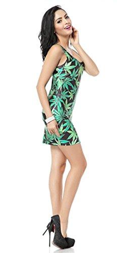 THENICE Damen Kleider Leaf