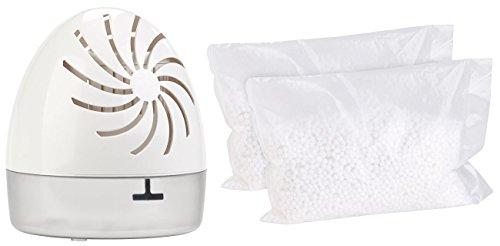 Sichler Haushaltsgeräte Luftentfeuchter Box: Raumentfeuchter mit 2 Granulat-Packs, bis 100 ml/Tag, Räume bis 10 qm (Universal-Luftentfeuchter)