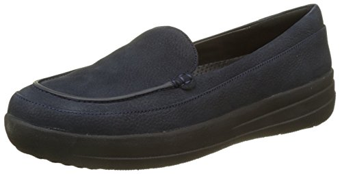 FitflopF-sporty Loafer Nubuck - Mocasines mujer, color azul, talla 38