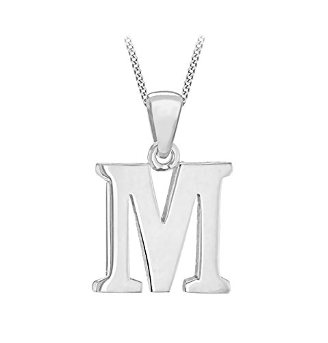 Tuscany Silver Women's Sterling Silver Initial M Pendant for sale  Delivered anywhere in Ireland