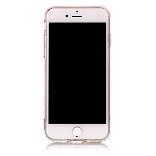 iPhone 6 cover,TXLING Glänzend Glitzer Crystal Case Hülle Klare Ultradünne Silikon Gel Schutzhülle Durchsichtig Kristall Transparent TPU Silikon Bumper Schutz Handy Hülle Case Tasche Etui für iPhone 6 Pflaumenblau