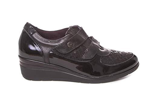 Zapato Velcro con cuña - Pitillos 5722 Negro