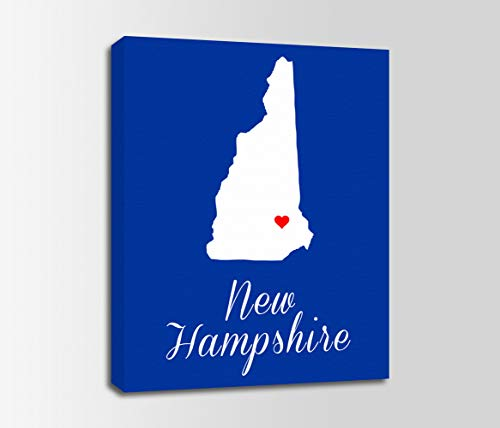 New Hampshire State Map (lmf379581 Canvas Print New Hampshire New Hampshire Map New Hampshire Print State Personalized Home Town Art Nursery Bedroom Bathroom Decoration Wall Art Wall Decor)
