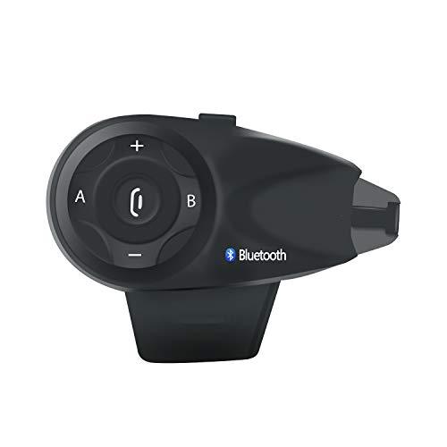 Motorrad Helm Headset Gegensprechanlage Bluetooth 3.0 Bis Zu 5 Treiber Wasserdicht Vollduplex DSP Rauschunterdrückung Automatische Anrufbeantworter Schwarz,1Pack