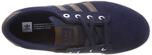 adidas Kiel, Chaussures de Gymnastique Mixte Adulte Bleu (Collegiate Navy/Brown/Footwear White 0)