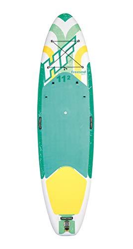 Bestway Hydro-Force SUP Freesoul Tech Stand-up-Paddling Board aufblasbar mit Sitzfunktion, 340x89x15 cm