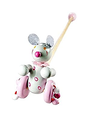Push Pull Along Toy Mouse for Baby or Toddler Girl or Boy