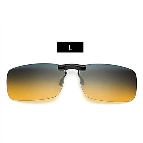 YLNJYJ Randlose Polarisierte Sonnenbrille Clip Auf Nasensonnenbrille Mens Driving Nachtsichtbrille Brillen Flip Myopie Auf Männliche Brille