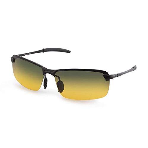 Sonnenbrillen Sonnenbrillen Tag und Nacht Dual - Use - Brillen Half - Square Square - Sonnenbrillen New Wave of Men Polarisierte Persönlichkeit Nachtsichtbrille Schützen Sie Ihre Augen (Farb