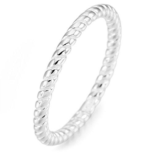 MunkiMix Sterling Silber Band Ring Silber Ton Valentine Lieben Hochzeit Verlobungsringe Verlobung Größe 65 (20.7) Damen - 11 Größe Damen-verlobungsringe,