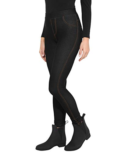 KRISP Jegging Femme Ceinture Haute Mode, Noir (3350),...