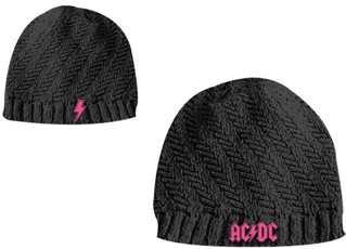 AC/DC-Berretto da donna Girls Knit Beanie muetue lavorato a maglia con logo ricamato