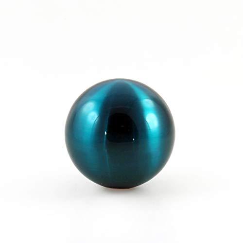 (Lifestyle & More Dekorative Garten Kugel Dekokugel aus Edelstahl blau Durchmesser 15 cm)