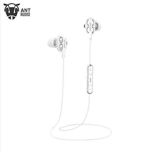 Ant Audio Doble H2 Dual Driver Wireless in-Ear Headset (White)