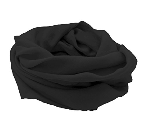 Paranox Halstuch aus Baumwolle 100 x 100 cm (Schwarz - Black)