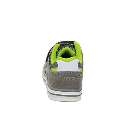 Sneakers UU446C Jungen Klettverschluss/Slipper Halbschuh sportlicher Boden Grau (Grau)